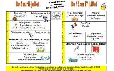Programme des 6 . 11 ans à Arreau